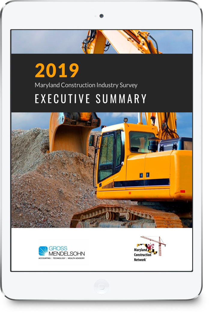 2019 Maryland Construction Executive Summary