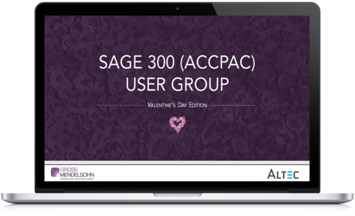 Watch The Sage 300 (Accpac) Users Group On Demand Recording